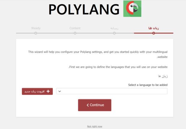 آموزش افزونه Polylang
