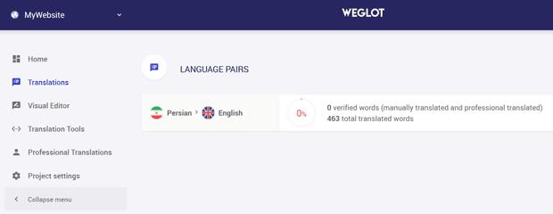آموزش افزونه Weglot