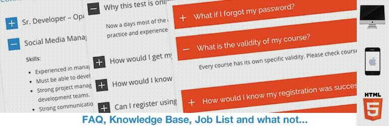 افزونه HTML5 Responsive FAQ