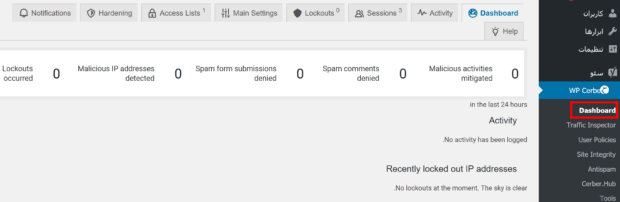 افزونه Cerber Security & Antispam