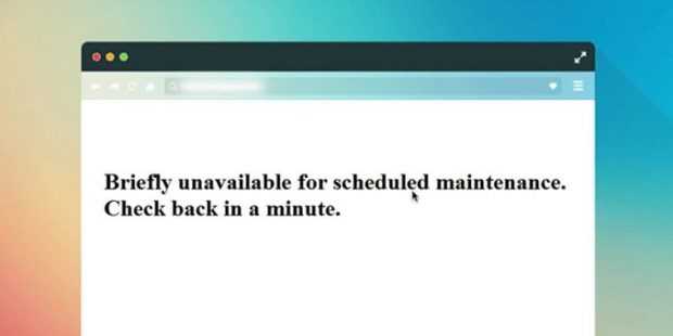 خطای Briefly Unavailable for Scheduled Maintenance