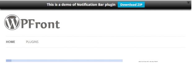 WPFront Notification Bar