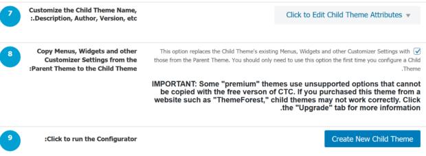 Child Theme Configurator