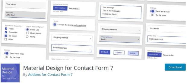 افزودنی های فرم تماس 7