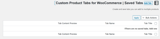 Custom Product Tabs for WooCommerce