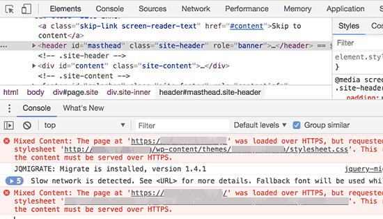 رفع مشکل SSL در وردپرس